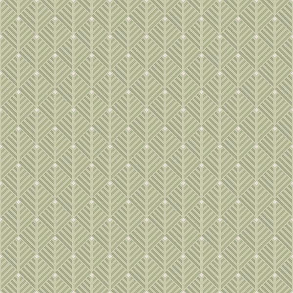 Picture of Opera Green Geometric Wallpaper