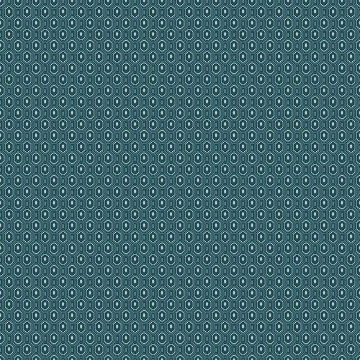 Picture of Ambassador Blue Geometric Wallpaper
