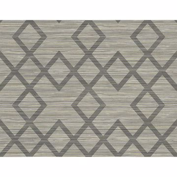 Picture of Vana Grey Woven Diamond Wallpaper