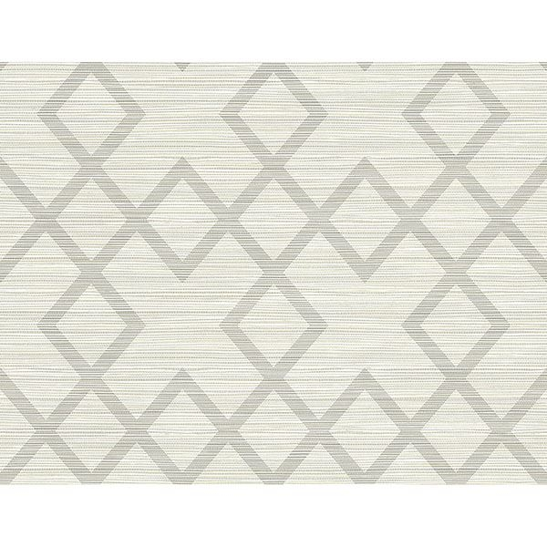 Picture of Vana Light Grey Woven Diamond Wallpaper