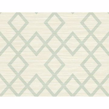 Picture of Vana Seafoam Woven Diamond Wallpaper