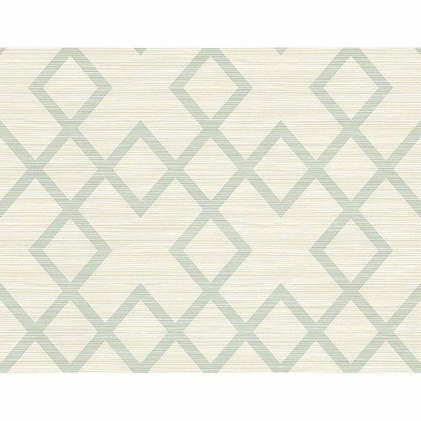 Picture of Vana Seafoam Woven Diamond Wallpaper