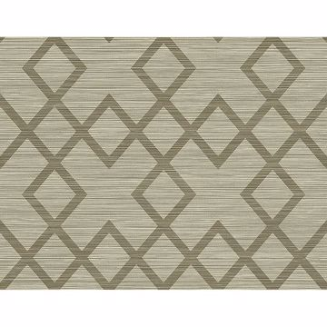 Picture of Vana Brown Woven Diamond Wallpaper