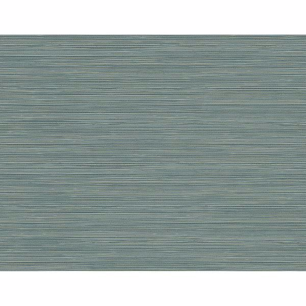Picture of Bondi Teal Grasscloth Texture Wallpaper