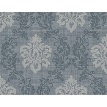 Picture of Adela Denim Twill Damask Wallpaper