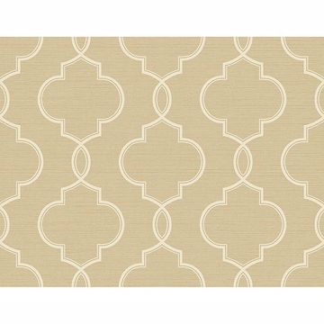 Picture of Malo Wheat Sisal Ogee Wallpaper