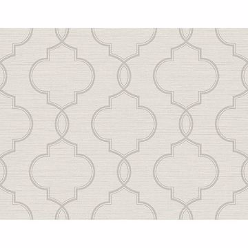 Picture of Malo Light Grey Sisal Ogee Wallpaper
