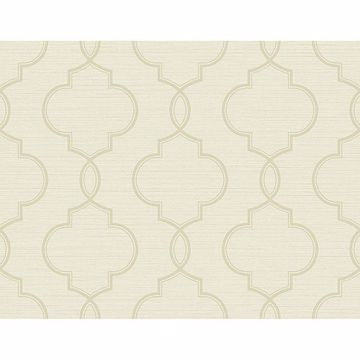 Picture of Malo Cream Sisal Ogee Wallpaper