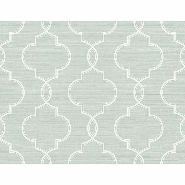 Picture of Malo Aqua Sisal Ogee Wallpaper