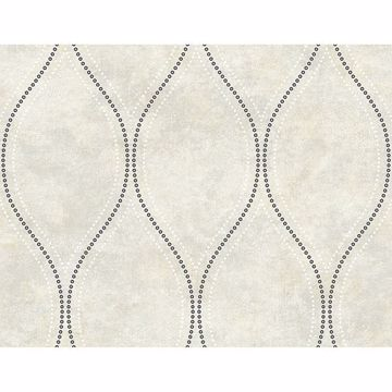 Picture of Eira Ivory Marble Ogee Wallpaper