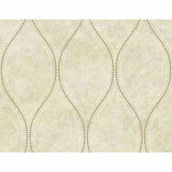 Picture of Eira Beige Marble Ogee Wallpaper
