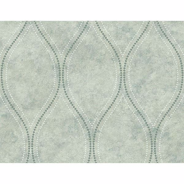 Picture of Eira Seafoam Marble Ogee Wallpaper