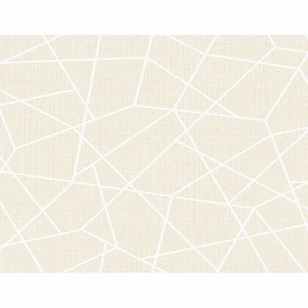 Picture of Heath Cream Geometric Linen Wallpaper