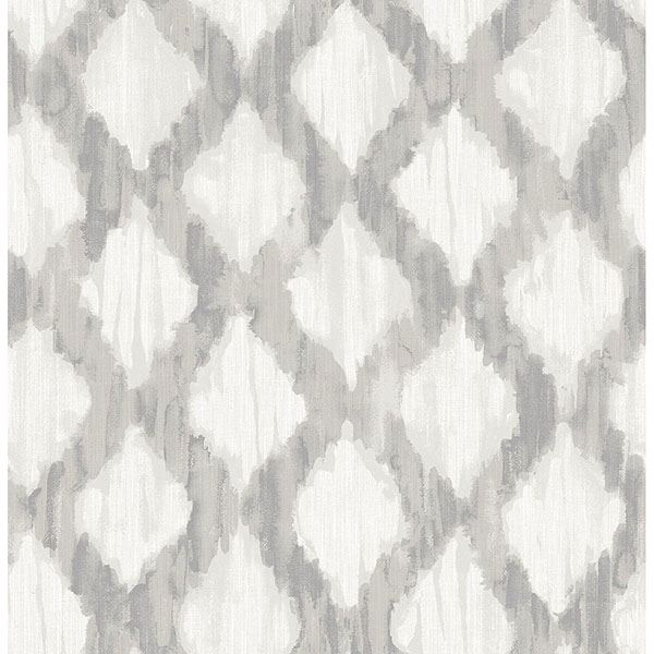 Picture of Grey Floating Trellis Peel & Stick Wallpaper