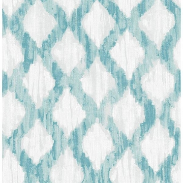 Picture of Teal Floating Trellis Peel & Stick Wallpaper