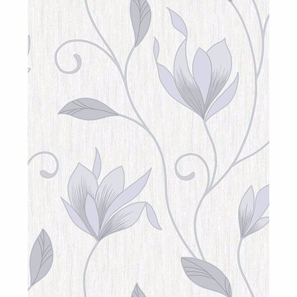 Picture of Synergy Grey Floral Trails Wallpaper
