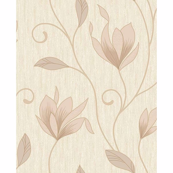 Picture of Synergy Gold Floral Trails Wallpaper