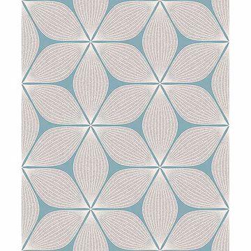 Picture of Vibration Cream Geometric Wallpaper