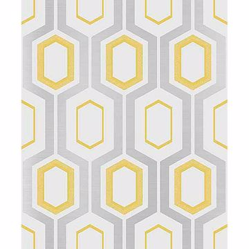 Picture of Mortimer Yellow Geometric Wallpaper