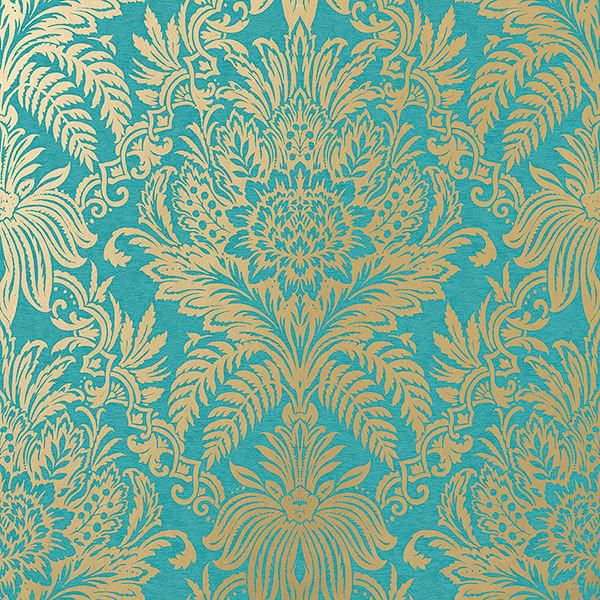 Picture of Signature Teal Damask Wallpaper