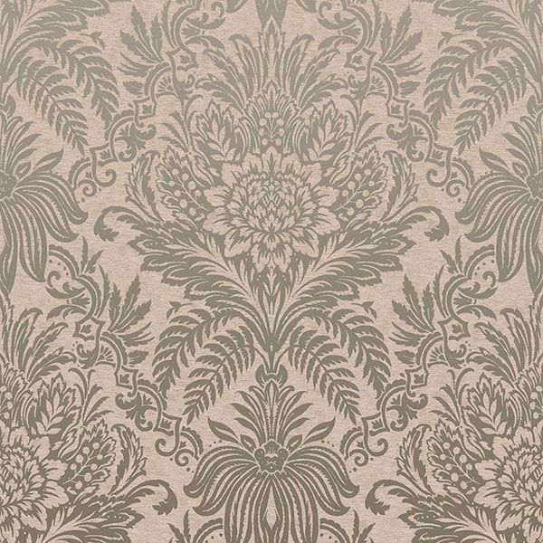 Picture of Signature Beige Damask Wallpaper
