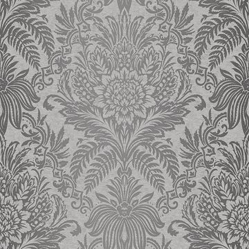 Picture of Signature Grey Damask Wallpaper