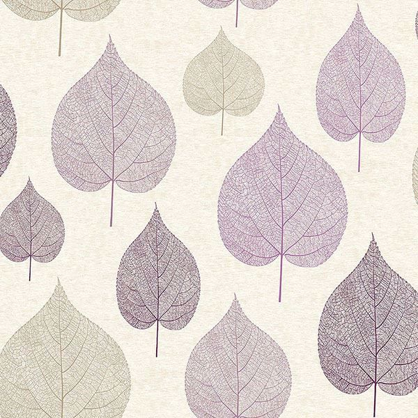 Picture of Quest Plum Leaf Wallpaper
