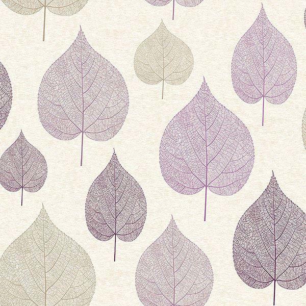 M1068 Quest Plum Leaf Wallpaper By Crown