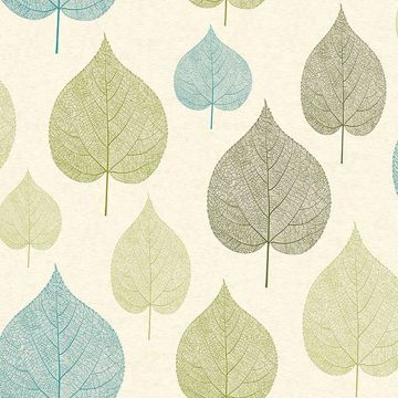 Picture of Quest Green Leaf Wallpaper