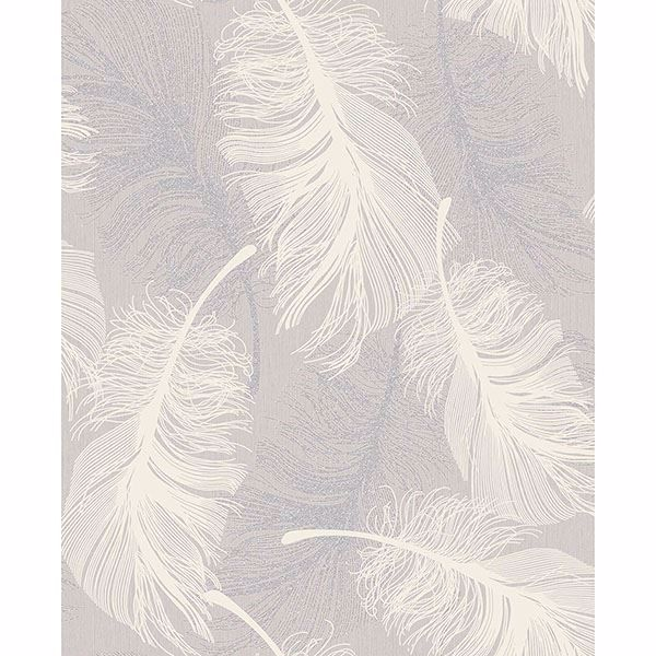Picture of Journey Lavender Feather Wallpaper