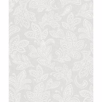 Picture of Ida Bone Scroll Wallpaper