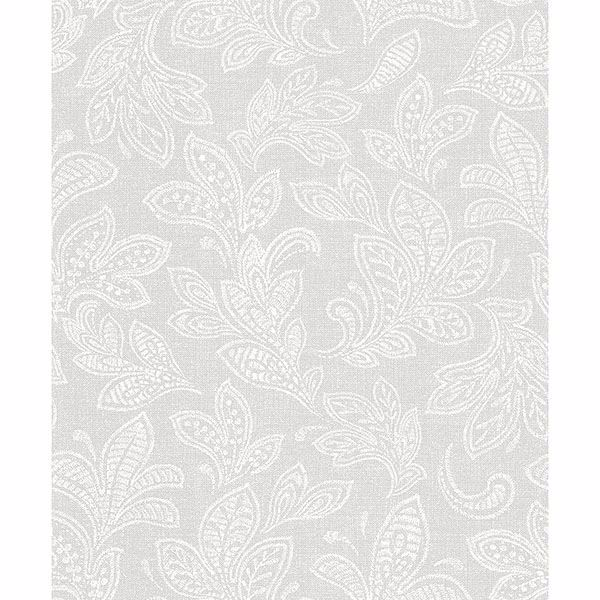 Picture of Ida Bone Scroll Wallpaper