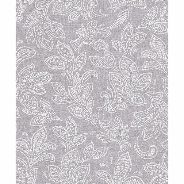 Picture of Ida Grey Scroll Wallpaper