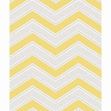 Picture of Serena Yellow Chevron Wallpaper