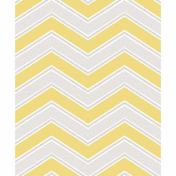 Picture of Serena Yellow Chevron Wallpaper