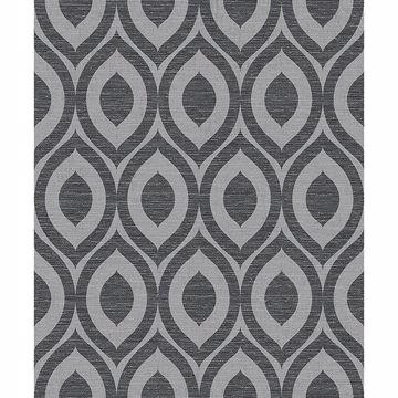 Picture of Rimini Black Geometric Wallpaper