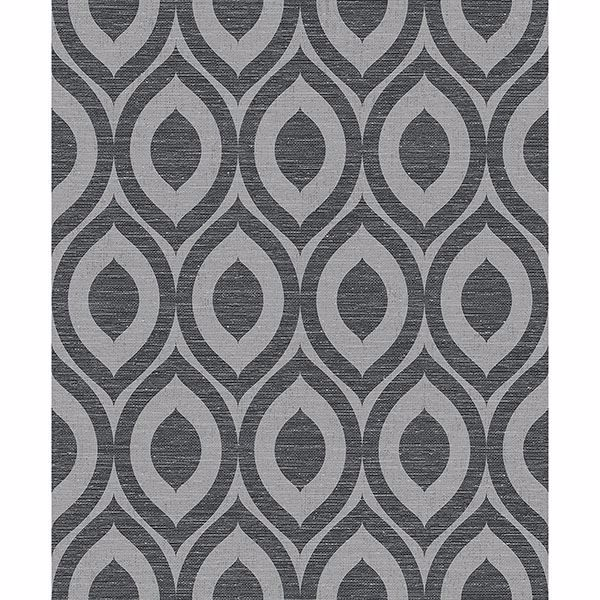Picture of Rimini Black Geometric Wallpaper