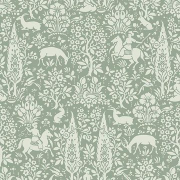 Picture of Sherwood Sage Woodland Wallpaper