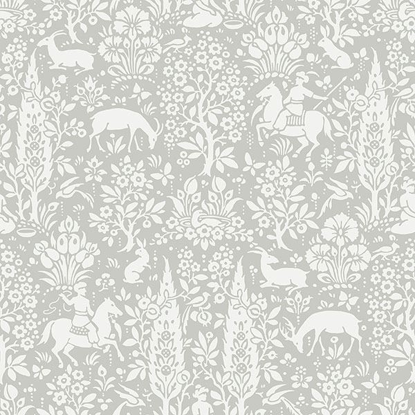 Picture of Sherwood Light Grey Woodland Wallpaper