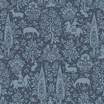 Picture of Sherwood Dark Blue Woodland Wallpaper