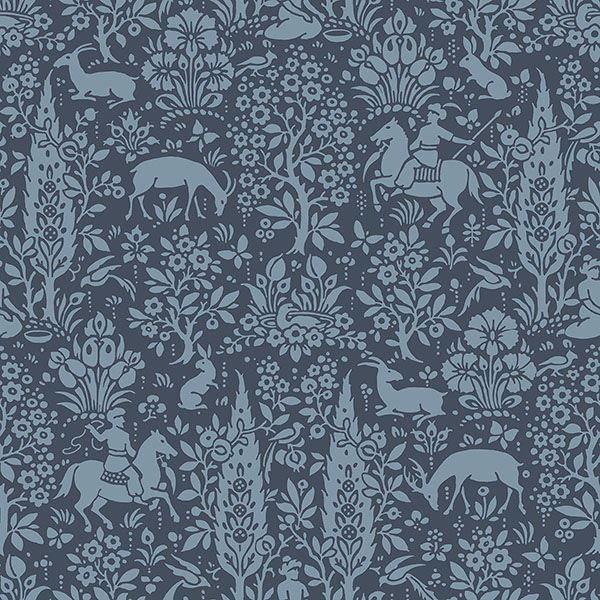 Picture of Sherwood Dark Blue Woodland Wallpaper
