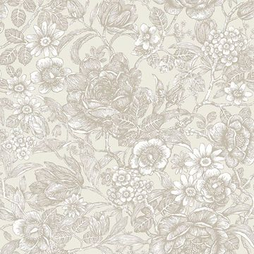 Picture of Hedgerow Wheat Floral Trails Wallpaper