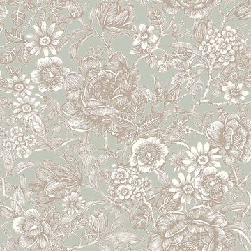 Picture of Hedgerow Moss Floral Trails Wallpaper