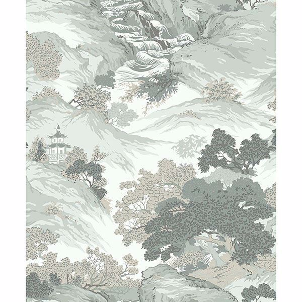 Picture of Ordos Light Green Eastern Toile Wallpaper