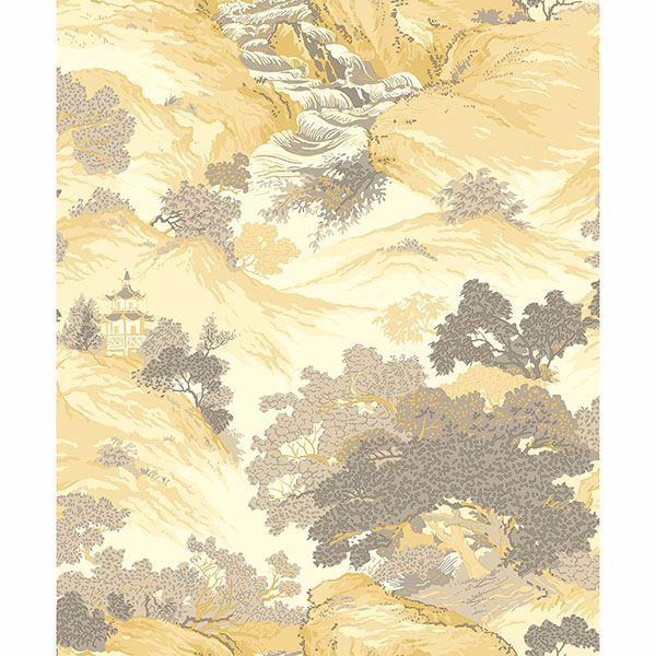 Picture of Ordos Yellow Eastern Toile Wallpaper