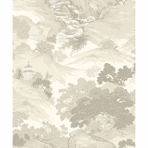 Picture of Ordos Cream Eastern Toile Wallpaper