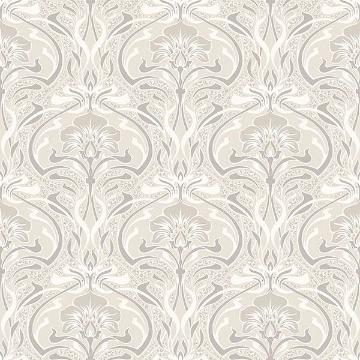Picture of Donovan Cream Nouveau Floral Wallpaper