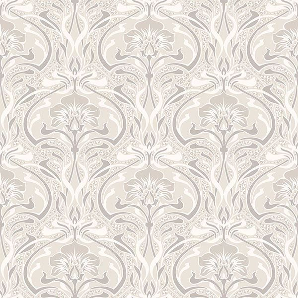 Picture of Donovan Cream Nouveau Floral Wallpaper