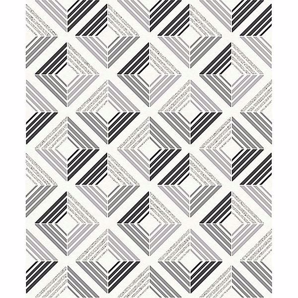 Picture of Echo Charcoal Geometric Wallpaper