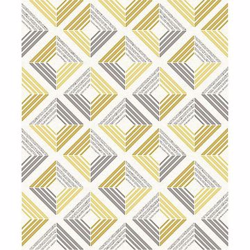 Picture of Echo Yellow Geometric Wallpaper